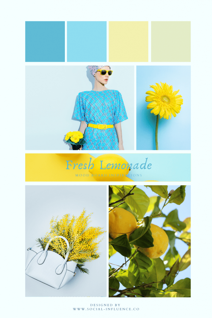 Mood Board - Fresh Lemon colours