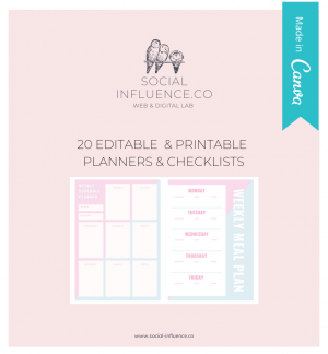 20 canva planners and checklists