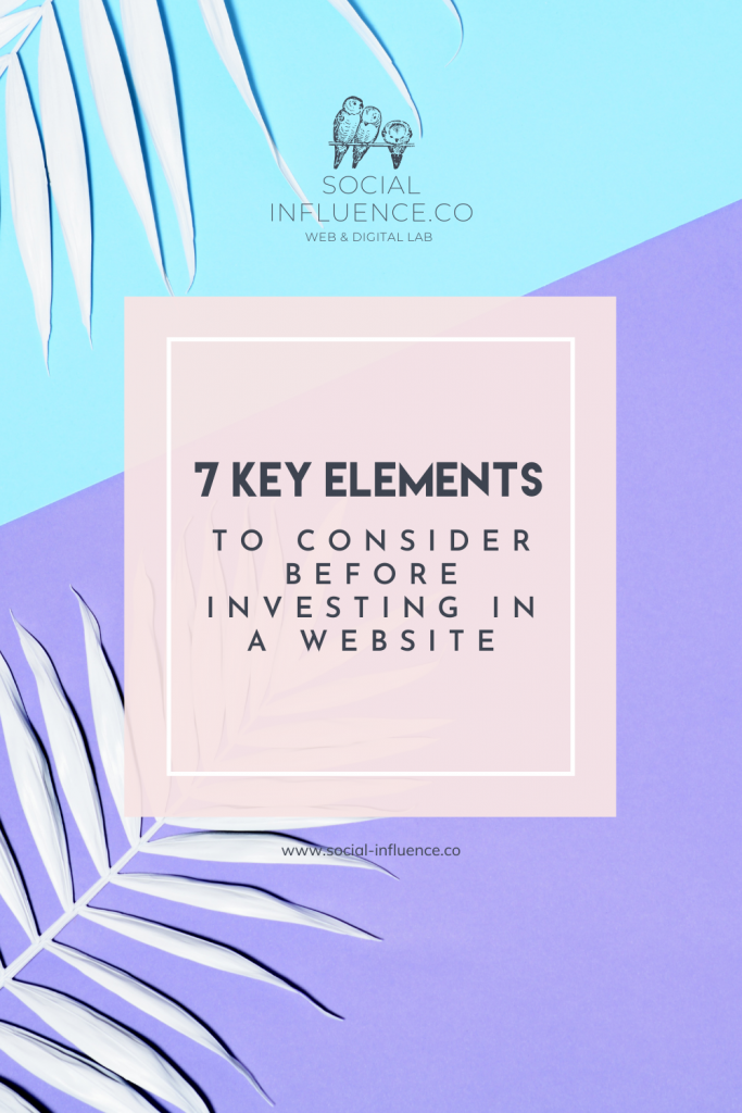 7 Key Elements to Consider Before Investing in a Website