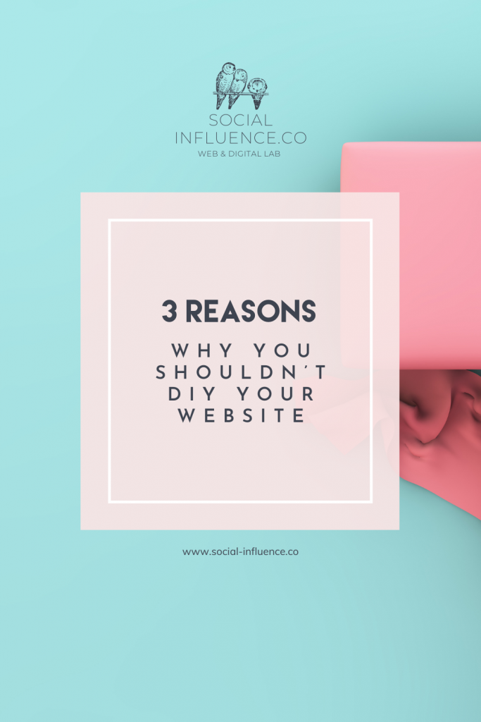 3 reasons why you shouldn't DIY your website on a pastel green background
