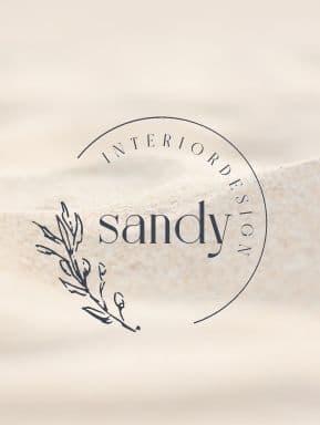 logo on a sandy background